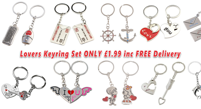 Lovers Couple Keyring Set ONLY 1.99 Including FREE Delivery