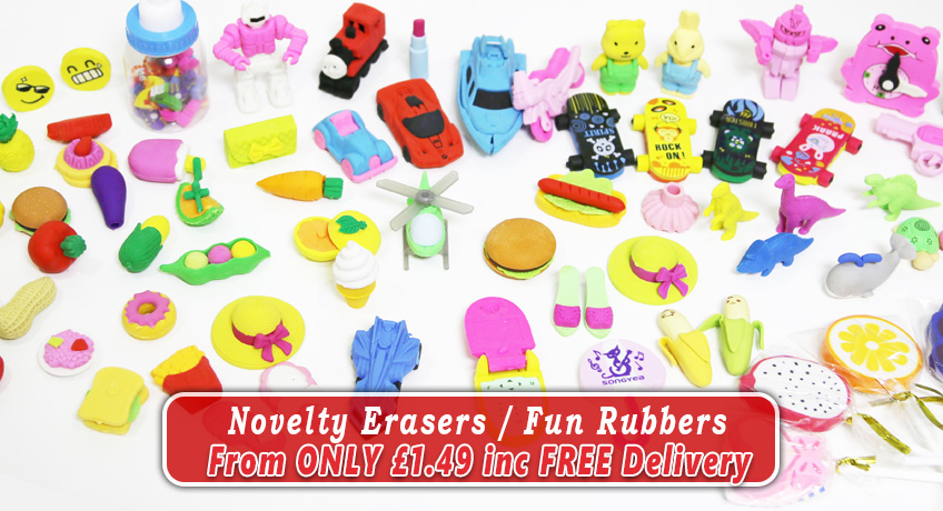 Novelty Erasers Fun Rubbers