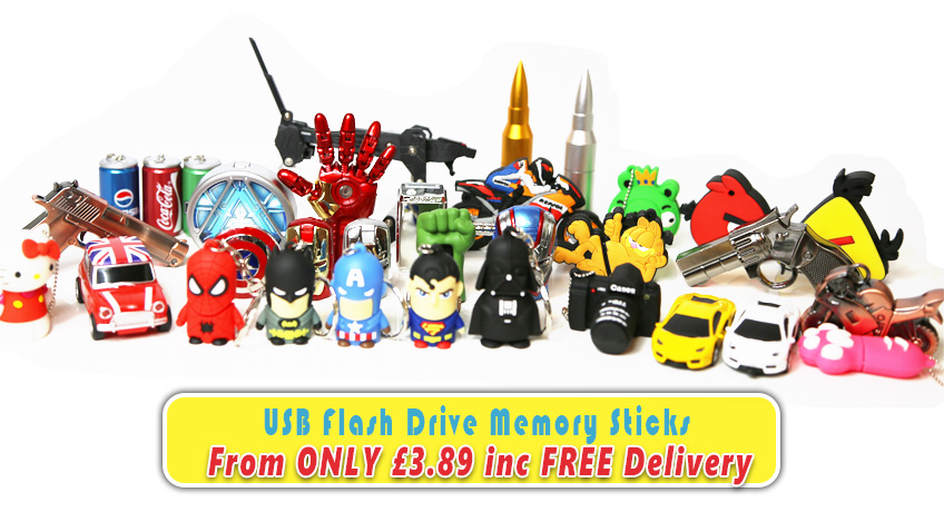 Novelty USB Flash Drives ONLY 3.89 GBP inc FREE Delivery